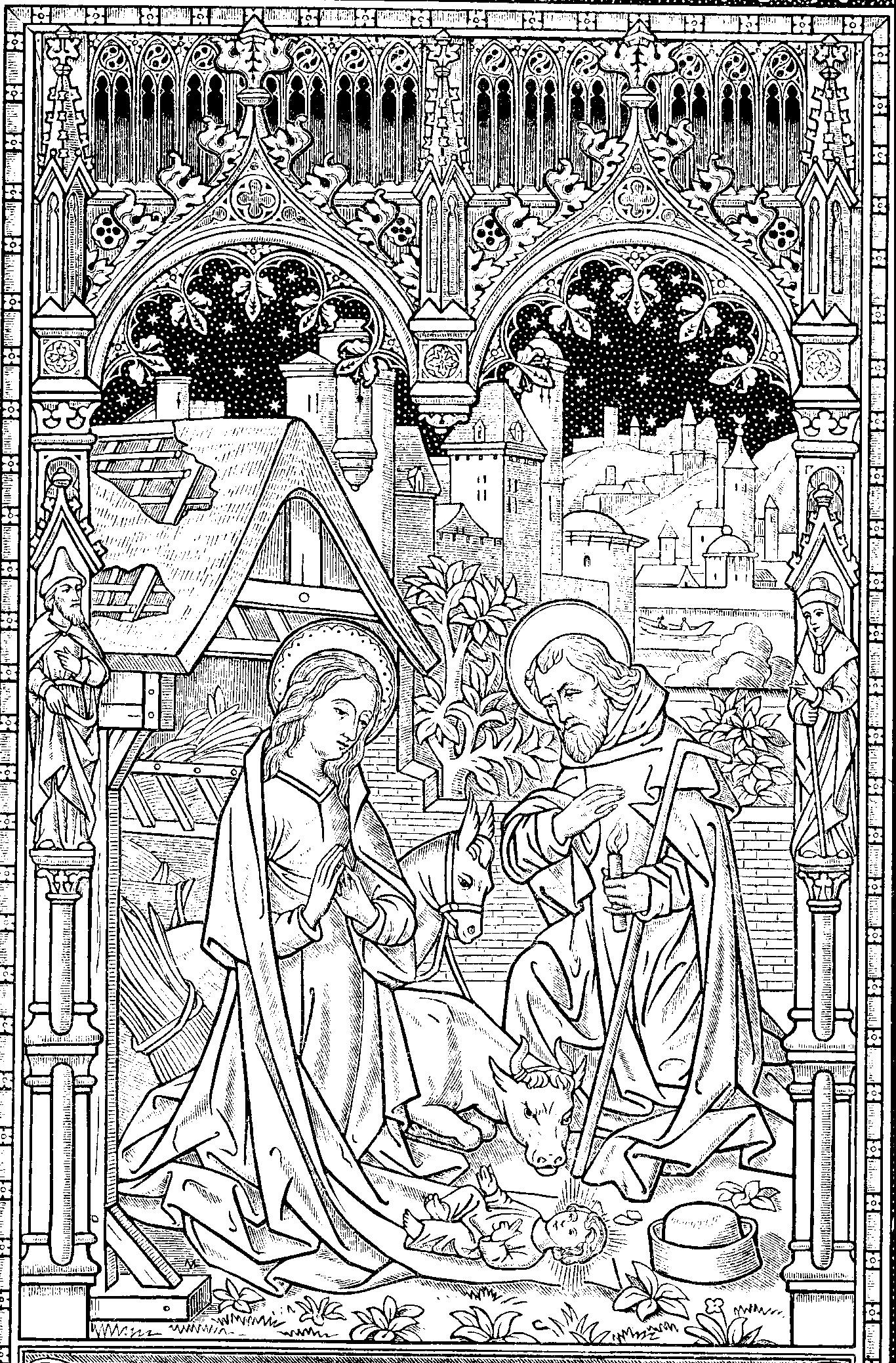 Missal Nativity Engraving