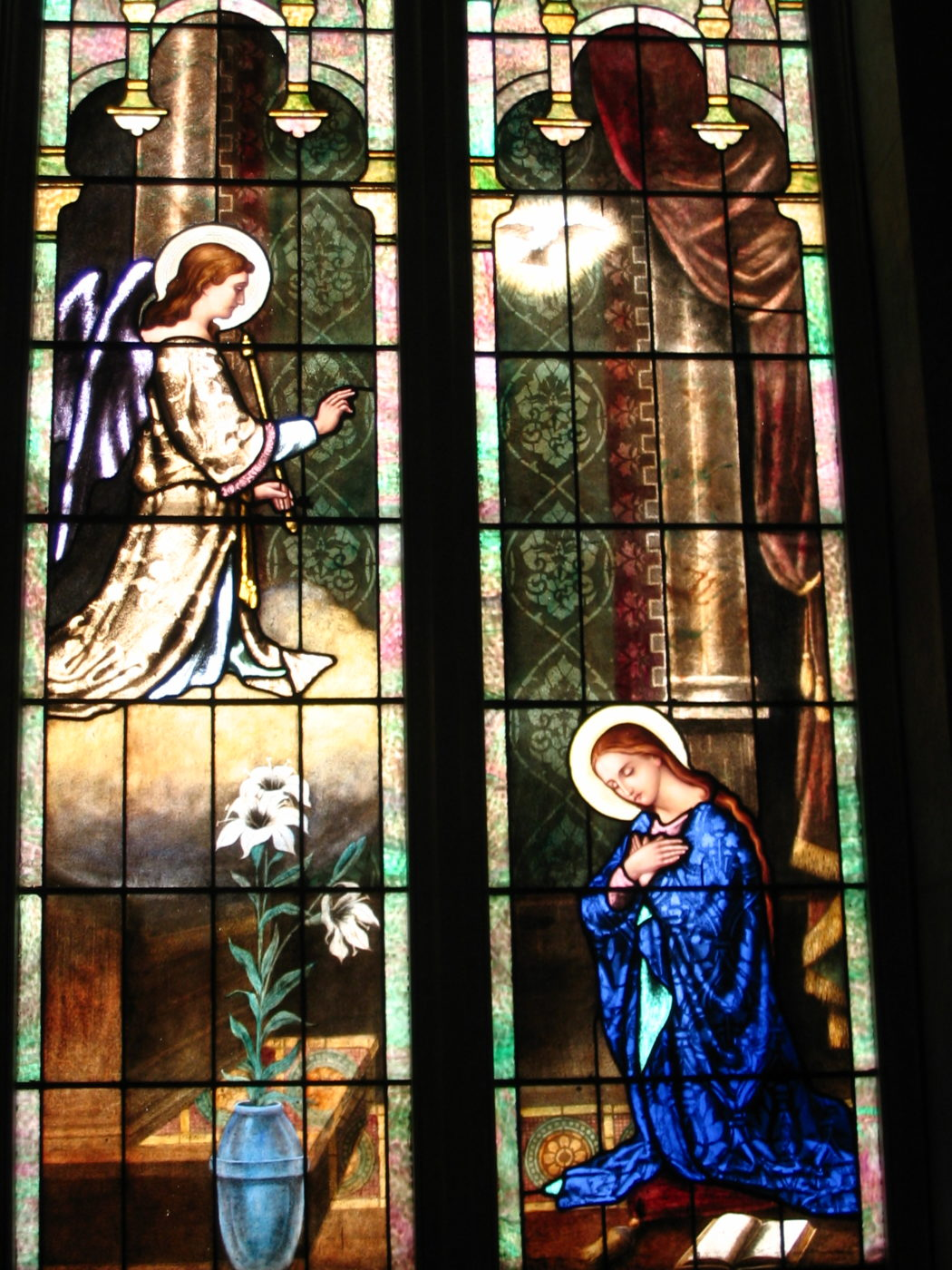 Stained Glass of the Annunciation