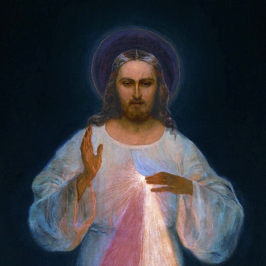 Picture of Christ as Divine Mercy