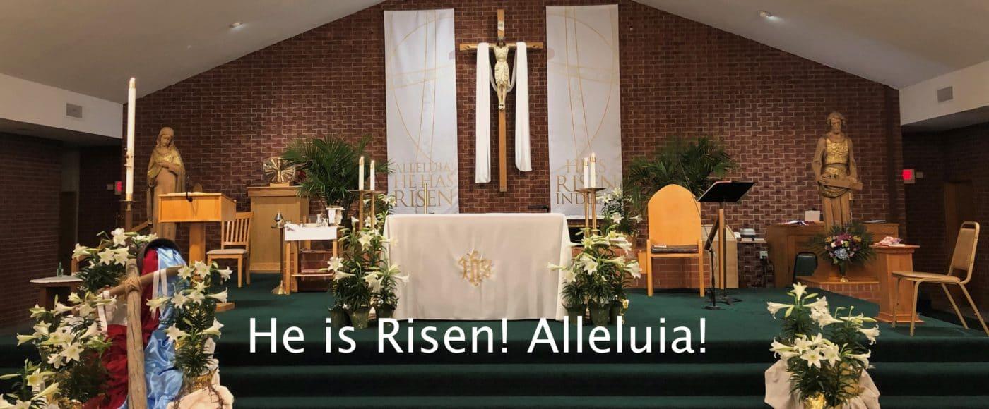 He is Risen, Church Sanctuary