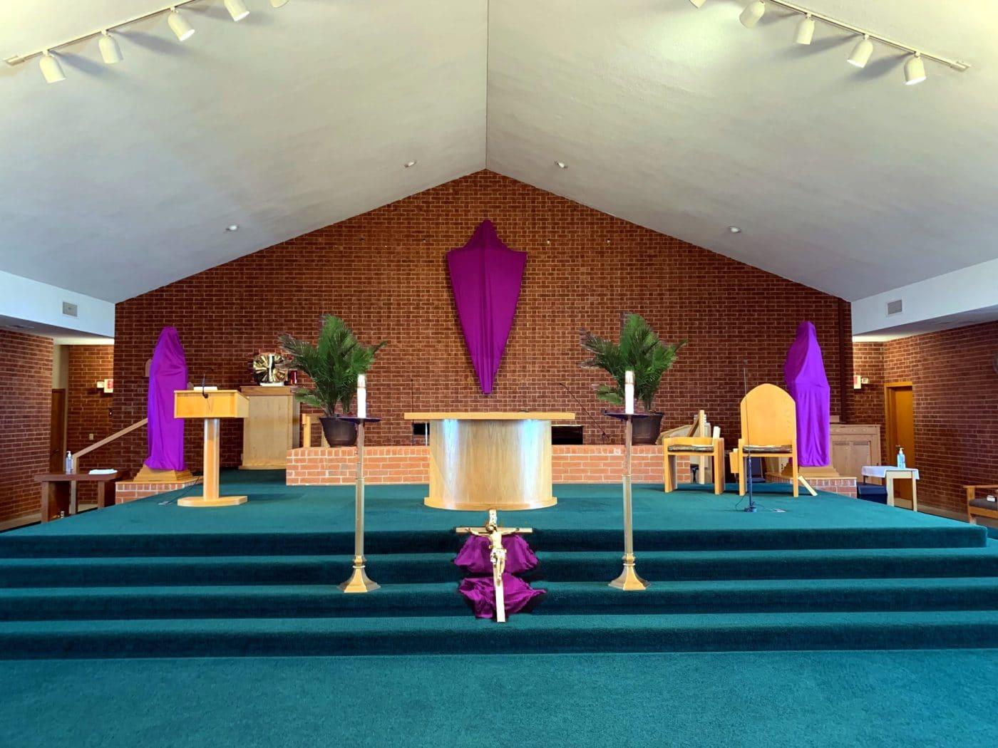 Church Sanctuary on Good Friday