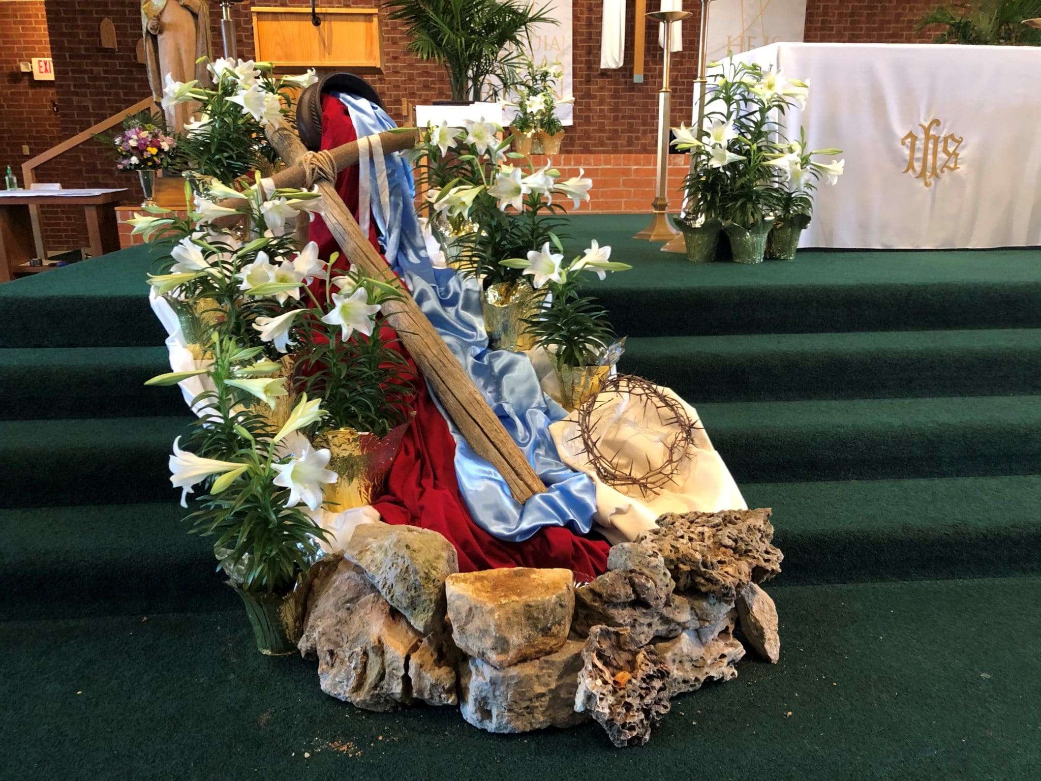 Our Lady of the Lake Easter Sanctuary Decorations