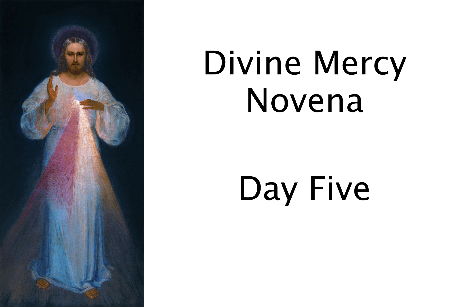 Divine Mercy Novena Day Five