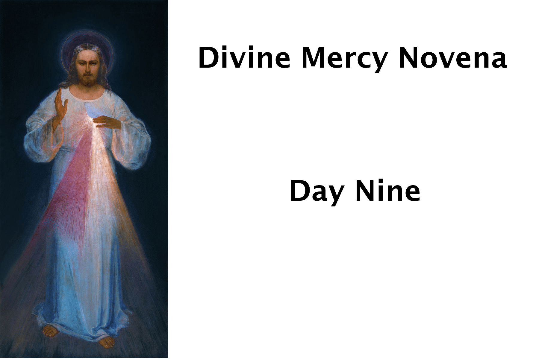 Divine Mercy Day Nine