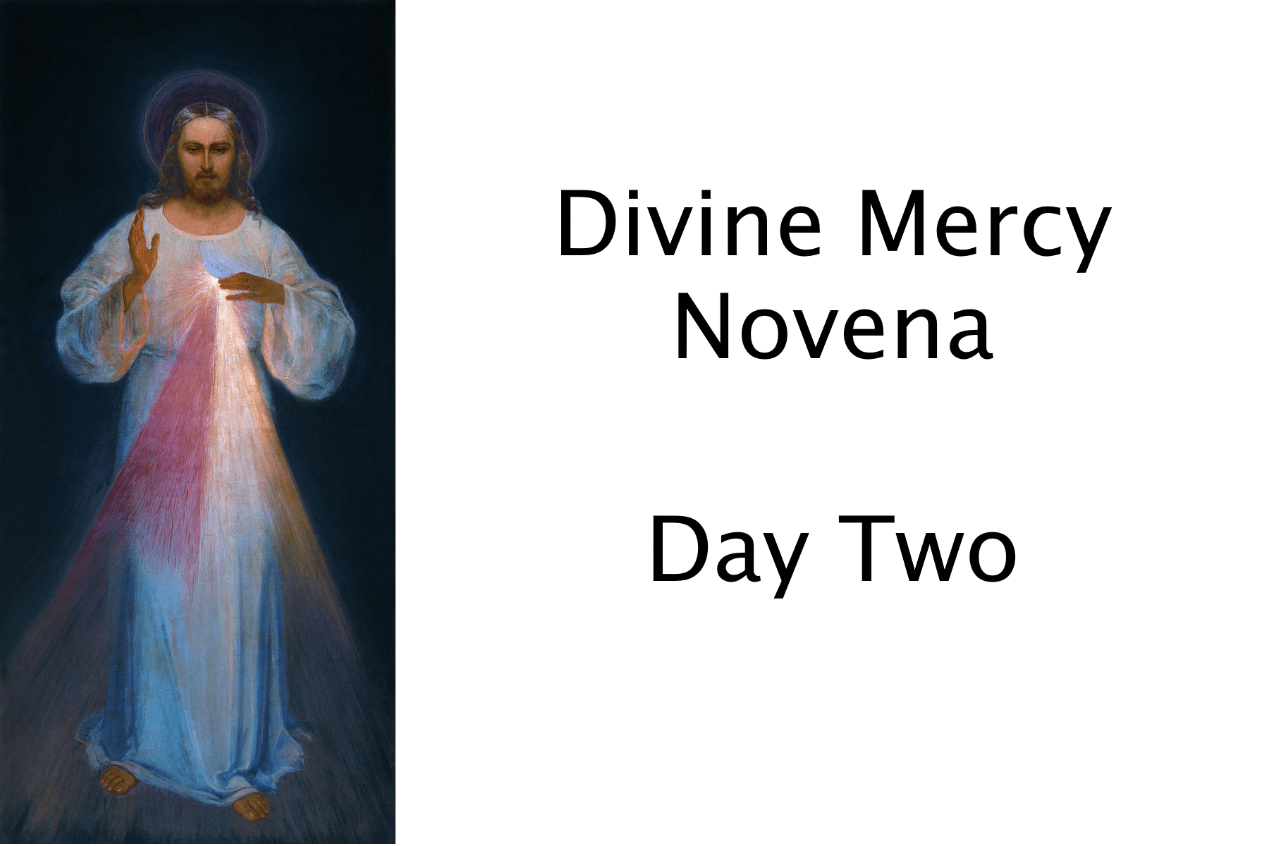 Divine Mercy Novena Day Two