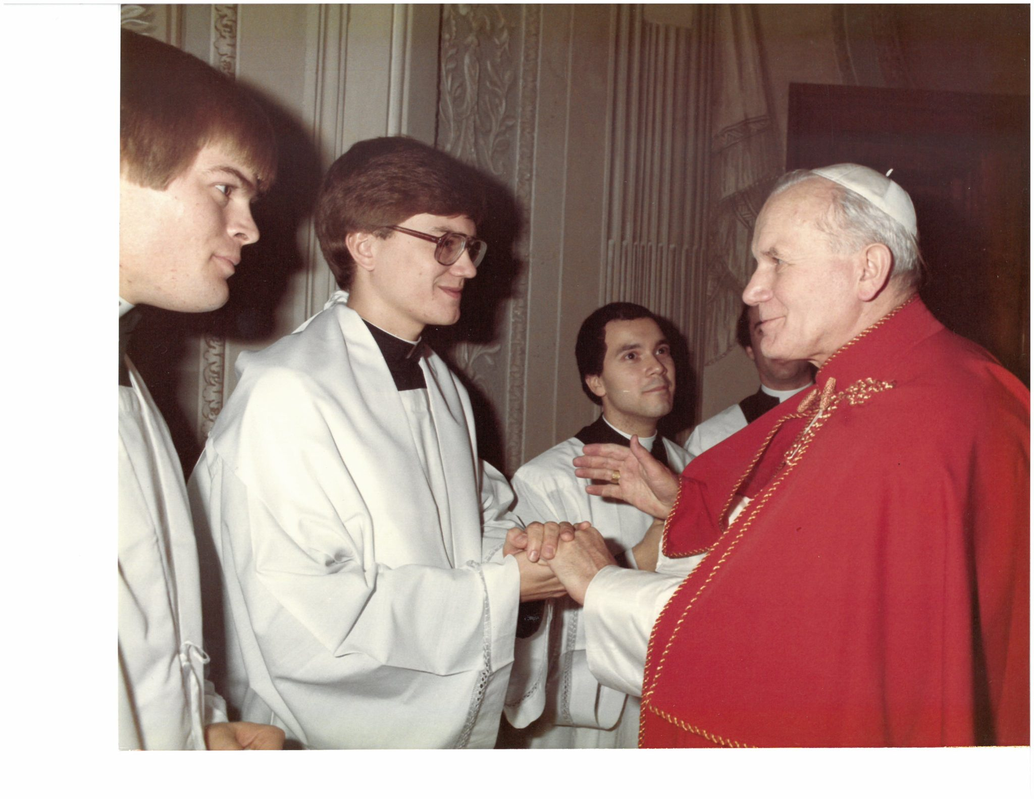 St. Pope John Paul after Midnight Mass, Christmas 1982