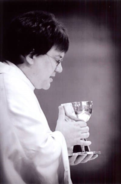 Msgr. Mak with chalice