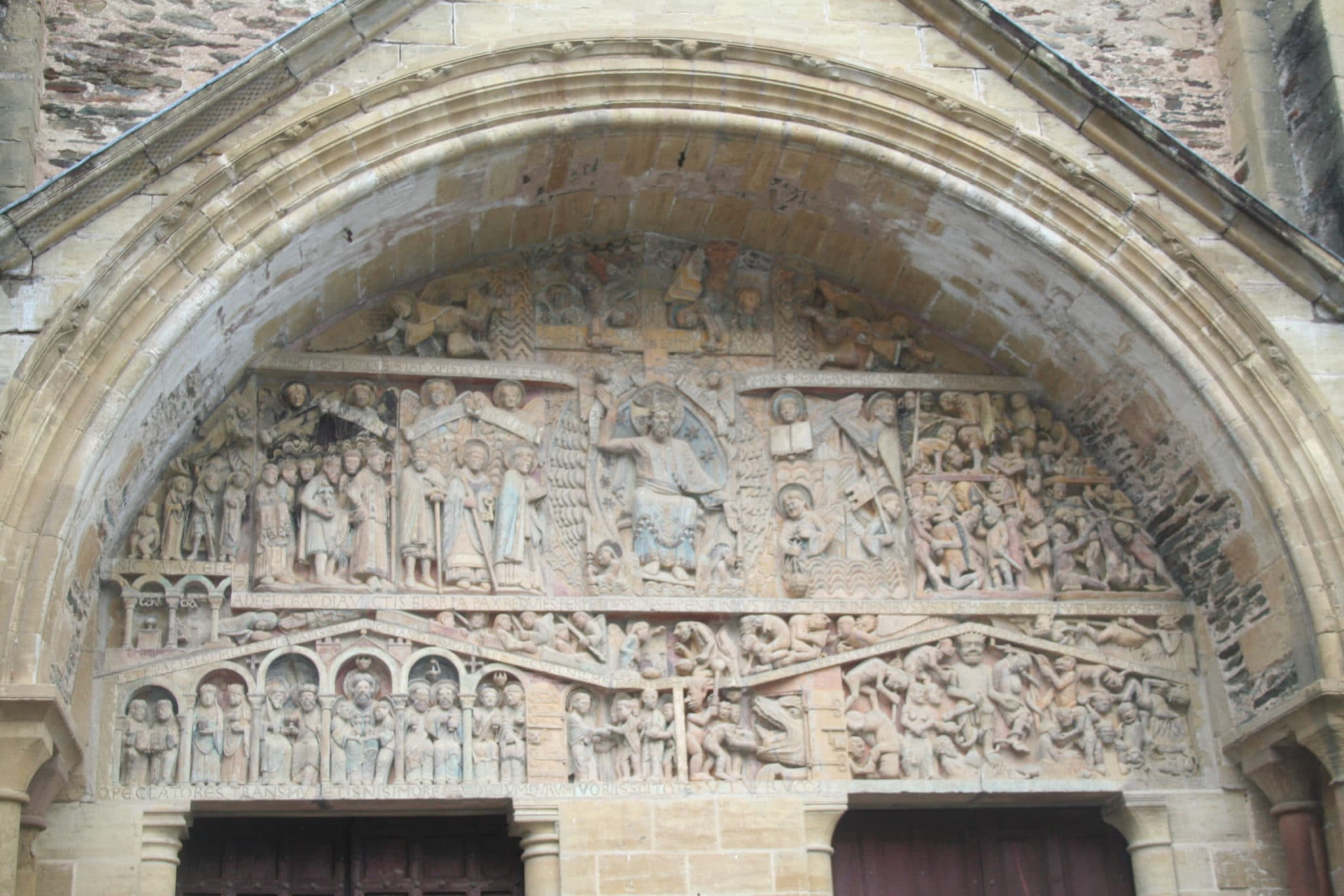 Tympanum from the Abbey Church of Sainte-Foy, Conques, France