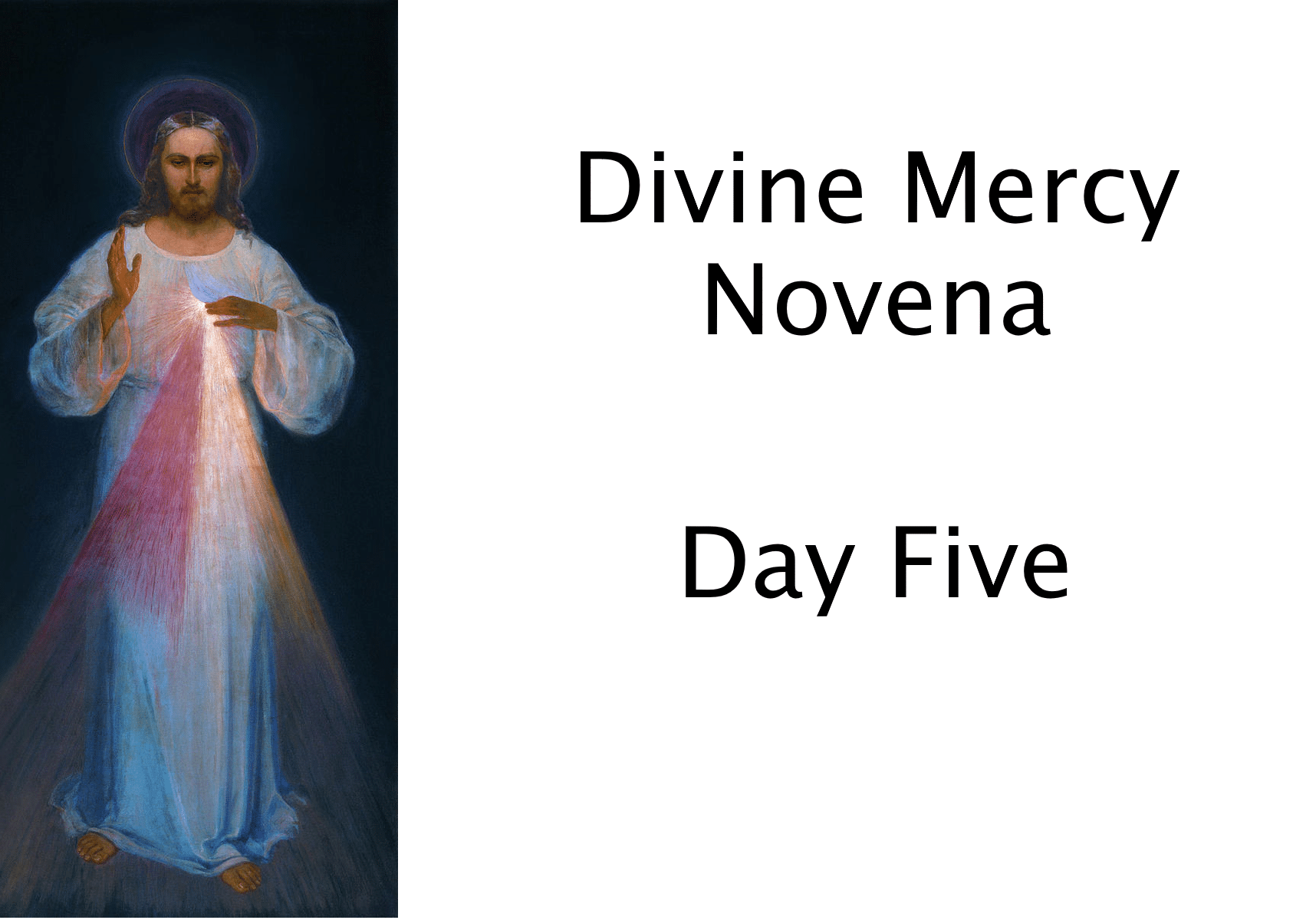 Divine Mercy Novena Day Five
