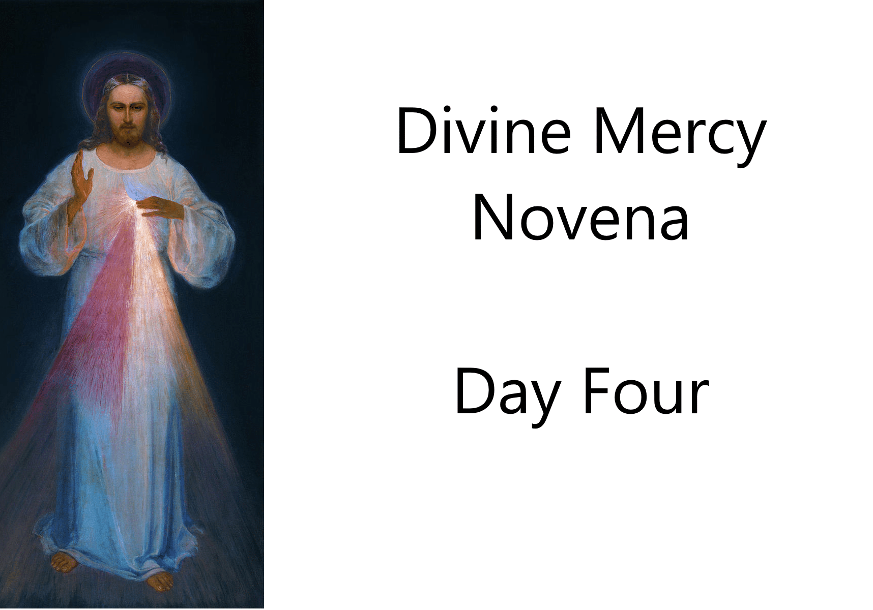 Divine Mercy Novena Day Four