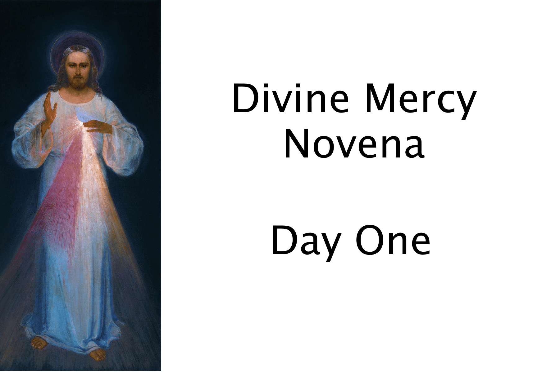 Divine Mercy Novena Day One